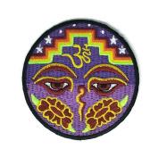 Hinduism Symbol Look Peace Cartoon Sign Hippie Retro Biker Jacket T-shirt Vest Patch Sew Iron on Embroidered Badge Custom
