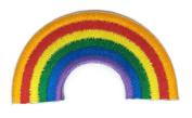 Beautiful Rainbow Cartoon Sign Hippie Retro Biker Jacket T-shirt Vest Patch Sew Iron on Embroidered Badge Custom