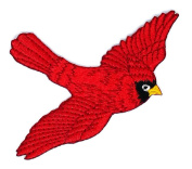 Bird Applique Embroidered patch Parrot Red Bird Embroidered cartoon Patch