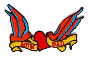 LOVE MOM & DAD Cartoon patch Kid Baby Boy Jacket T Shirt Patch