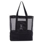 Shoulder bag,2-in-1 Multifunctional PETJAY Outdoor Travel Mesh Beach Bag Picnic drinking Cooler