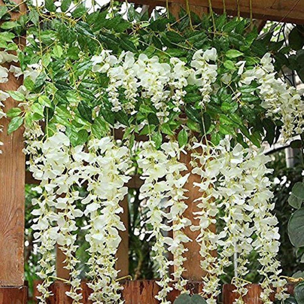 12 pack 11mpiece artificial fake wisteria vine ratta hanging 12 pack 11mpiece artificial fake wisteria vine ratta hanging garland silk flowers string home party wedding dcor by bjh shop online for homeware in new izmirmasajfo