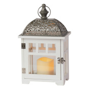 Cole & Bright 6702 The Bamburgh LED Flickering Flameless Battery-Operated Small Candle Lantern