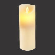 Gideon 23cm Flameless LED Candle - Real Wax & Real Flickering Candle Motion - with Multi-Function Remote (On/Off, Timer, Dimmer) - Vanilla Scented, Ivory