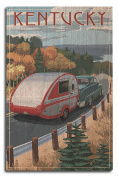 Kentucky - Retro Camper on Road