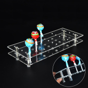 MENGCORE 25 Hole Acrylic Cake Pop Lollipop Display Stand Holder for Weddings Baby Showers Birthday Parties Anniversaries Halloween Candy Decorative