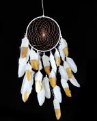 ZEJEUER Lightweight Dream Catcher With Big Feathers Wall And Car Hanging Ornament