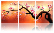 Ode-Rin - Modern Abstract Blossoms Canvas Wall Art for Home Decoration Abstract Tree art Painting for Wall Landscapes Framed Artwork,Ready to Hang -