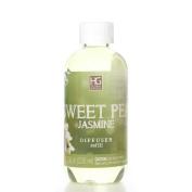 Hosley Premium Sweet Pea Jasmine Reed Diffuser Refills Oil, 230 ml (7.75 fl oz) Made in USA.. BULK BUY. Ideal GIFT for weddings, spa, Reiki, Meditation settings W1