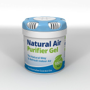 Natural Air Purifier Gel. Air Freshener, Deodorizer and Purifier In A Portable Canister - 100% Natural Odour Eliminator and Mould Remover. For Home, Car, Boat, Office. 80ml/75gm