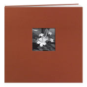 Pioneer 30cm by 30cm Postbound Silk Fabric Frame Front Memory Book, Copper