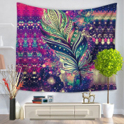 Alicemall Bohemian Tapestry Beautiful Colourful Feather Print Tapestry Hanging Boho Tapestries Beach Throw Tapestries Dorm Room Wall Hanging Decorative Bedspreads, 150cm x 200cm