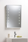 Illuminated Bathroom Wall Mirror with Cool White LED Lights, Demister Pad & Sensor Switch for Hands Free Light Operation - Fully Certified to British Standards 70cm x 50cm 2535F