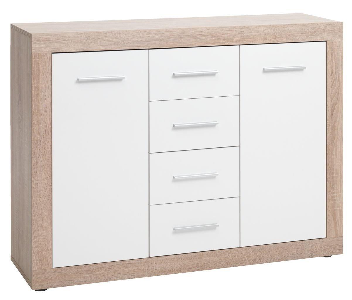 Jysk Sideboard Favrbo 2 Door Oak White By Jysk Shop Online For