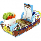 x20 Pirate Galleon Ship - Party Meal Food Trays - Snack Lunch Box Plate Tray