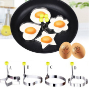 Creative Mould Kitchen Accessories Stainless Steel Fried Egg Shaper Pancake Mould Mould Kitchen Cooking Tools 4 Shapes Available