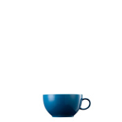 Thomas Sunny Day Cappuccino Cup, Saucer, Porcelain, Petrol Blue, Dishwasher Proof, 380 ml, 14672