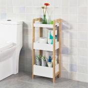 SoBuy® FRG226-WN, 3 Tiers Bathroom Shelf Storage Display Shelf Rack Organiser Shelving Unit