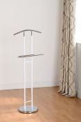 Derbey Gentleman's Valet stand in White and chrome finish FROM CENTURION PINE