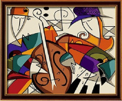 Diy oil painting, paint by number kits- Music dream 16*50cm .
