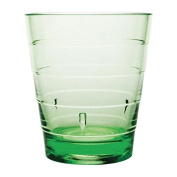6 X Kristallon Polycarbonate Ringed Tumbler Glass 285ml 10oz Green Glassware