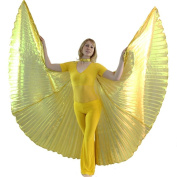Danzcue Gold Belly Dance Opening Worship Angel Wings With Sticks Adult