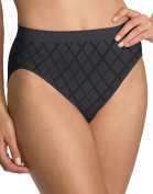 Barely There Microfiber Solid Hi-Cut Brief Panty