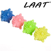 LAAT 4PCS Laundry Washing Ball Washing Machine Balls Cleaning Cleaner Magic Coloured Detergent Laundry Ball