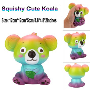 New Cute Koala Cream Scented Squishy Jumbo Toy Slow Rising Squeeze Strap Kid Toy 12cm - Great gift for Kids & Adults Sensory Play Stress Relief Toy For Autism ADHD ADD OCD