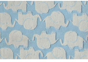 The Rug Market Elephant Plush Floor Rug, Blue/White, 2.8x4.8
