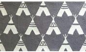 The Rug Market Teepee Plush Floor Rug, Grey/White, 2.8 x 4.8