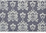 The Rug Market Damask Plush Floor Rug, Grey/White, 2.8x4.8