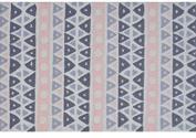 The Rug Market Sienna Plush Floor Rug, Pink/White/Grey, 2.8x4.8