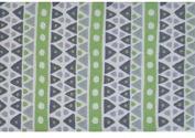 The Rug Market Sienna Plush Floor Rug, Green/Grey/Whit, 2.8x4.8
