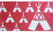 The Rug Market Teepee Coral Plush Floor Rug, Coral/White, 2.8x4.8