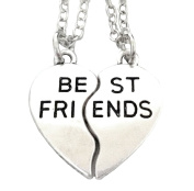 Two Collections Of A Broken Heart Split Into Two Parts With Written Best Friends Best Friends Silver Colour Gift Idea For Men Women Boys Girls Unisex Boy Girl Man Special Woman