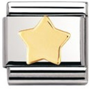 Nomination Composable Classic Fun Star Stainless Steel and 18K Gold
