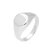 Sterling Silver Engravable Mens & Womens Signet Ring Size J - Z+1