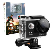 EvoDX Ultra HD 4K Sports and Action Camera Kit with WiFi 30M Waterproof Case and Mount Set