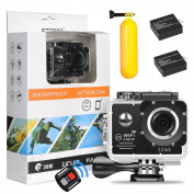 Action Camera,Toopro Underwater Camera Wi-Fi 1080P 16MP Waterproof up to 30m 5.1cm LCD 170°Ultra Wide-Angle Two 1050mAh Batteries with Waterproof Case and Kit of Accessories