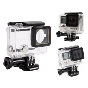 Waterproof Housing Case with Quick Release Mount and Thumbscrew for GoPro Hero 4 and Hero 3+ Action Camcorder - 40 Metres Underwater Photography