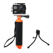 YDI Waterproof Floating Hand Grip Tripod Selfie Stick with Adjustable Wrist Strap and Thumb Screw for Gopro 5/4/3/2/1, Xiaomi Yi, SJCAM, APEMAN, AKASO Action Sports Camera Accessories