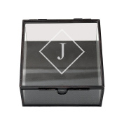 Cathy's Concepts Personalised Square Glass Shadow Box, Letter J