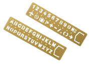 Multifunctional Brass Ruler Bookmark Drawing Ruler Numbers Letters Graffiti Ruler copper ruler Pack of 2