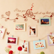 '8 unids Frames 6 Wooden Clips and String ecoración Innovative for your home, Study, Office, Caravan, Studio, Loft