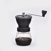 Manual Coffee Grinder Mill with Ceramic Burr and Protective Lid - Great for Coffee Brewing at Home Travelling Camping-Plus Secret How to Grind Coffee for Chemex, French Press, Aeropress