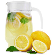 Water Glass Pitcher, Clear Ice Tea Jug, Serves Up To 7 Cups