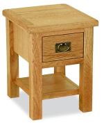 Baysdale Rustic Oak Lamp Table
