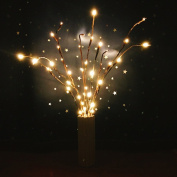 Branch Tree Lights Baokee® Battery Powered LED Willow Branch Lamp Floral Lights 20 Bulbs for home decoration