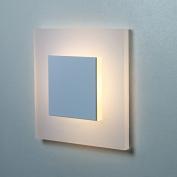 SunLED Pyramid Small Warm White 230V 1W Grey Aluminium Wall Light